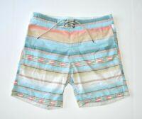 Classic FAHERTY Men's Board Shorts Swim Trunks Multi Color Stripe Waist Size 30