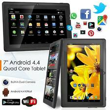 "7"" Pollici Tablet Android 8 GB QUAD CORE 4.4 Dual Camera Bluetooth Wi-Fi UK"