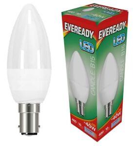 Eveready 6w (=40w) LED Candle Bulb ?? Small Bayonet Cap (SBC) Daylight White