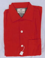 New listing Vintage 50s 1950s Congress Imorted Red Wool Loop Collar Flannel Shirt S Nos