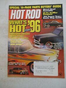 HOT ROD MAGAZINE JANUARY 1996 1934 SEDAN DELIVERY HI-PO MUFFLER COMPARO CAR AUTO