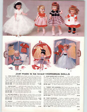 1959 PAPER AD 3 PG Cindy Walker Bride Doll Cindy Buster Brown Shirley Temple