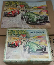 "JIGSAW : ""VICTORY"" WOOD JIG-SAW PUZZLE OF THE CAR RACE SERIES NO. T.P.4   (MLFP)"