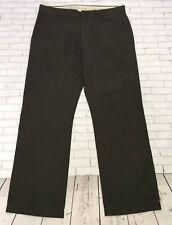 GAP Mens Casual Pants 35 X 32 Brown Chino Slacks Straight Fit Flat Front Cotton