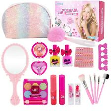 Kids Makeup Set for Girls - 19PCS Real Washable Cosmetics Kit Children Play M...
