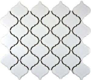 Mosaïque carreau Rétro céramique florentine blanc givré 13-11WM_f | 10 plaques