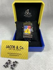 Jacob & Co Capri Time Zone Watch w/links & Warranty Card AMAZING CONDITION RARE