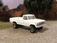 1973 Ford F-100 4x4 Lifted Custom 1/64 Diecast Truck Farm Off Road 4WD Mud