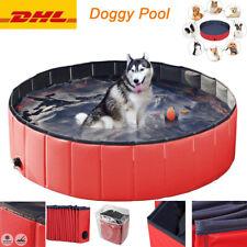Doggy Pool Hundepool Badewanne Swimmingpool Wasserbecken Planschbecken Rot DHL