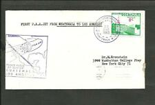 Guatemala To Los Angeles, Pan American, 1St Flight 1960, Cover, Vf