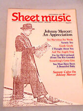 Sheet Music Magazine Johnney Mercer: An Appreciation Easy Piano Back Issue