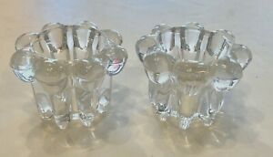 Candle Holders Forever Crystal Clear Ribbed Bubbles Glass KIG Indonesia