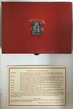United Kingdom Proof Coin Collection / Royal Mint Red Case / 7 Coins / 1987