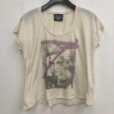 Junk Food Madonna T-Shirt 2011 Womens Sz M Band Tour Pop Rock i5