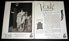 1919 OLD MAGAZINE PRINT AD, VODE GLAZED KID LEATHER, MILADY ADMIRES HER SHOES!