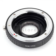 Camera Adapter For Nikon F Lens To Pentax K-S1 K-3 K-50 K-5 II K-30 K-01 K-r K-x