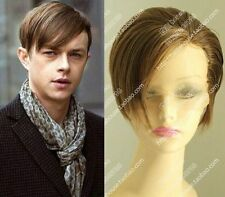 Fashion Classic Brown Lace Front Wig Natural Men's Short Straight Synthetic Hair
