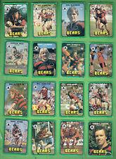 #D411.  1978  NORTH SYDNEY BEARS  RUGBY LEAGUE CARDS, ALL 16 CARDS