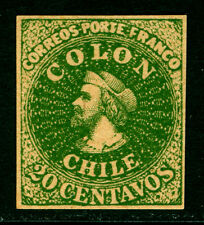 CHILE 1900s  COLUMBUS  20c dark green - UNOFFICIAL REPRINT
