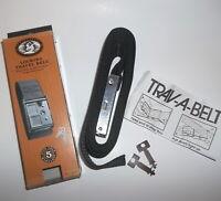 """NIB Lewis N Clark Black Locking Luggage Travel Belt w/Lock and Key #220 2"""" x 76"""""""