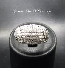 9ct White Gold Diamond Cluster Bombe Ring Size N 1/2 3.6g 0.95 carats