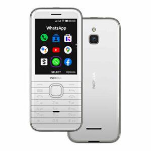 "Nokia 8000 4G Dual SIM 2.8"" White Snapdrago 210 FM radio Phone CN FREESHIP"