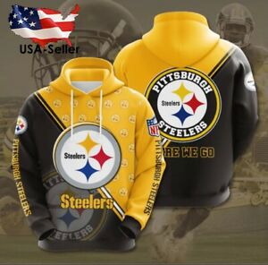 Pittsburgh Steelers Long Sleeve Pullover Hoodies NFL Football Jersey Shirt