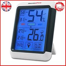 ThermoPro TP55 Digital Thermo-hygrometer with Larger Backlit Display, Monitor...