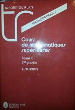 SMIRNOV COURS DE MATHéMATIQUES SUPéRIEURS TOME 3 2° PARTIE éDITIONS MIR MOSCOU