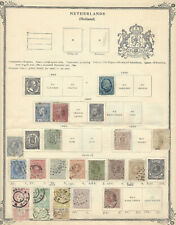 1860's -1880's NETHERLANDS STAMP LOT ON ALBUM PAGE, WOULD BE NICE GIFT FOR DAD