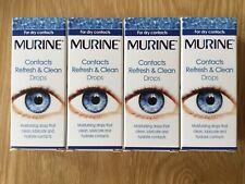 Murine Contacts Refresh & Clean Eye Drops 4 x 15ml