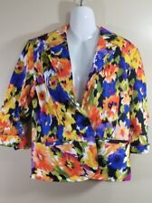 Erin London Womens New With Tags Super Colorful 3/4 Sleeve Blazer Jacket Size S