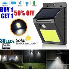 Outdoor 30 LED Solar Wall Lights Power PIR Motion Sensor Garden Yard Path Lamp