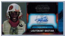 Topps Star Wars The Force Awakens TFA Widevision Auto Tosin Cole Lt. Bastian /10
