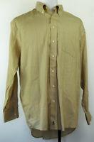 Nordstrom Smartcare Wrinkle-Free Button-Front L/S Tan Dress Shirt 17 1/2 X 34