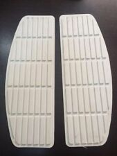 """HARLEY WL WLA PANHEAD KNUCKLEHEAD FOOTBOARD RUBBER INSERTS WHITE 11-1/2"""" length"""