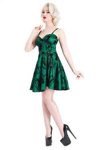 Voodoo Vixen Sally Peackock Flocked Teffeta Classly Short Party Dress S-Xl