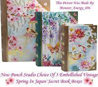 🌸 Punch Studio Spring Secret Jewellery/Trinket/Keepsake/Storage Gift Book Boxes