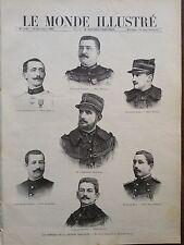 MONDE ILLUSTRE 1897 N 2125 LES MEMBRES DE LA MISSION MARCHAND - DU HAUT OUBANGUI