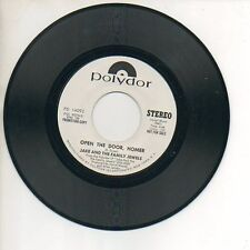 JAKE & FAMILY JEWELS 45 RPM Promo Record OPEN THE DOOR, HOMER Unplayed MINT!
