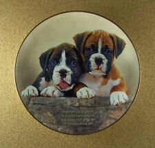 Cherished Boxers Companions Plate Danbury Mint Your Boxers Won't Ignore You Htf!