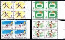 India 1982 MNH 4v in Blk 4, Asian Games, Sports, Football, Cycling, Disc Throw -