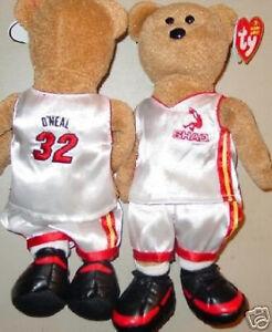 "TY Beanie Baby ""ShaqBear"" SHAQUILLE O'NEAL #32 Teddy Bear SHAQ Version #3 - MWMT"