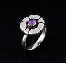 Georg Jensen Sterling Ring # 36 with Amethyst. Silver. Many sizes. NEW.