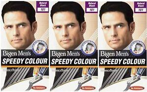 Bigen Men's Speedy Hair Colour (101 - Natural Black)pack of 3