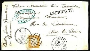 199 - ITALY - SARDEGNA - 1861 - FOLDED COVER  - TO CHECK, POSSIBLE FORGERY