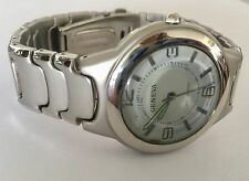 GENEVA MANS WATER RESISTANT ST STEEL WRIST WATCH JAPAN MOVEMENT