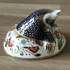 Lovely Royal Crown Derby Imari Mole Paperweight/Figurine Collectors Guild