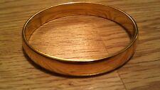 "Monet gold plated 7.5"" all around bangle bracelet"