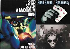 More details for shed seven - promotional flyers 1994 - 1996 - brit pop - free posting